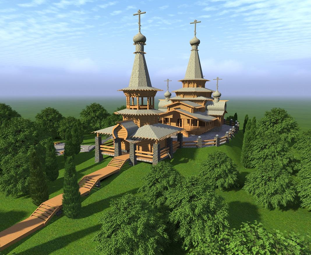 Эскизный проект строительства храма в д. Слободка Калининского района Тверской области