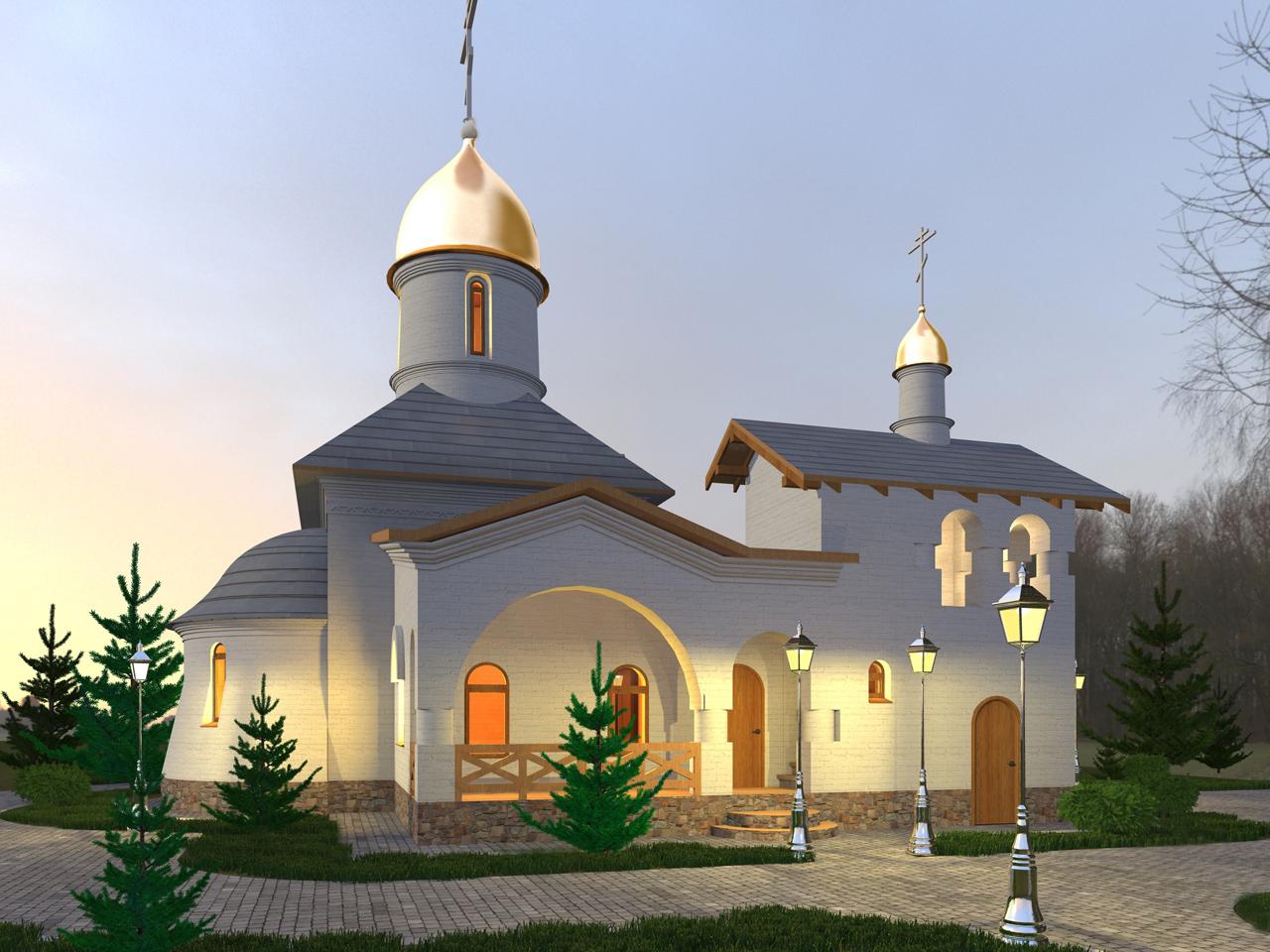 Проект храмового  комплекса  Волынская область