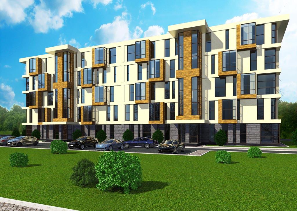 Дизайн-проект фасада многоквартирного дома г. Ровно