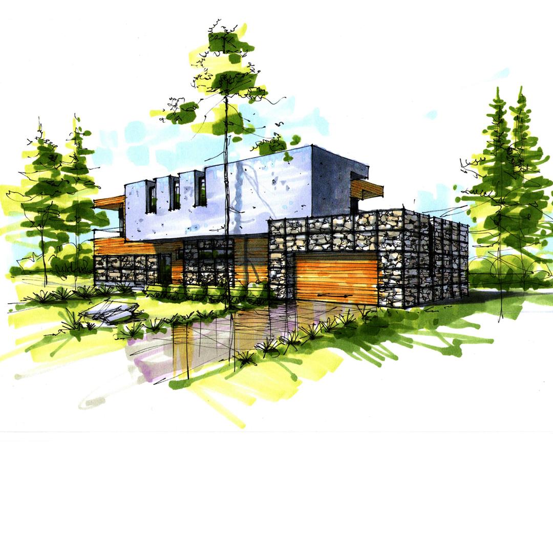 Дизайн-проект дома в современном стиле. г.Днепропетровск