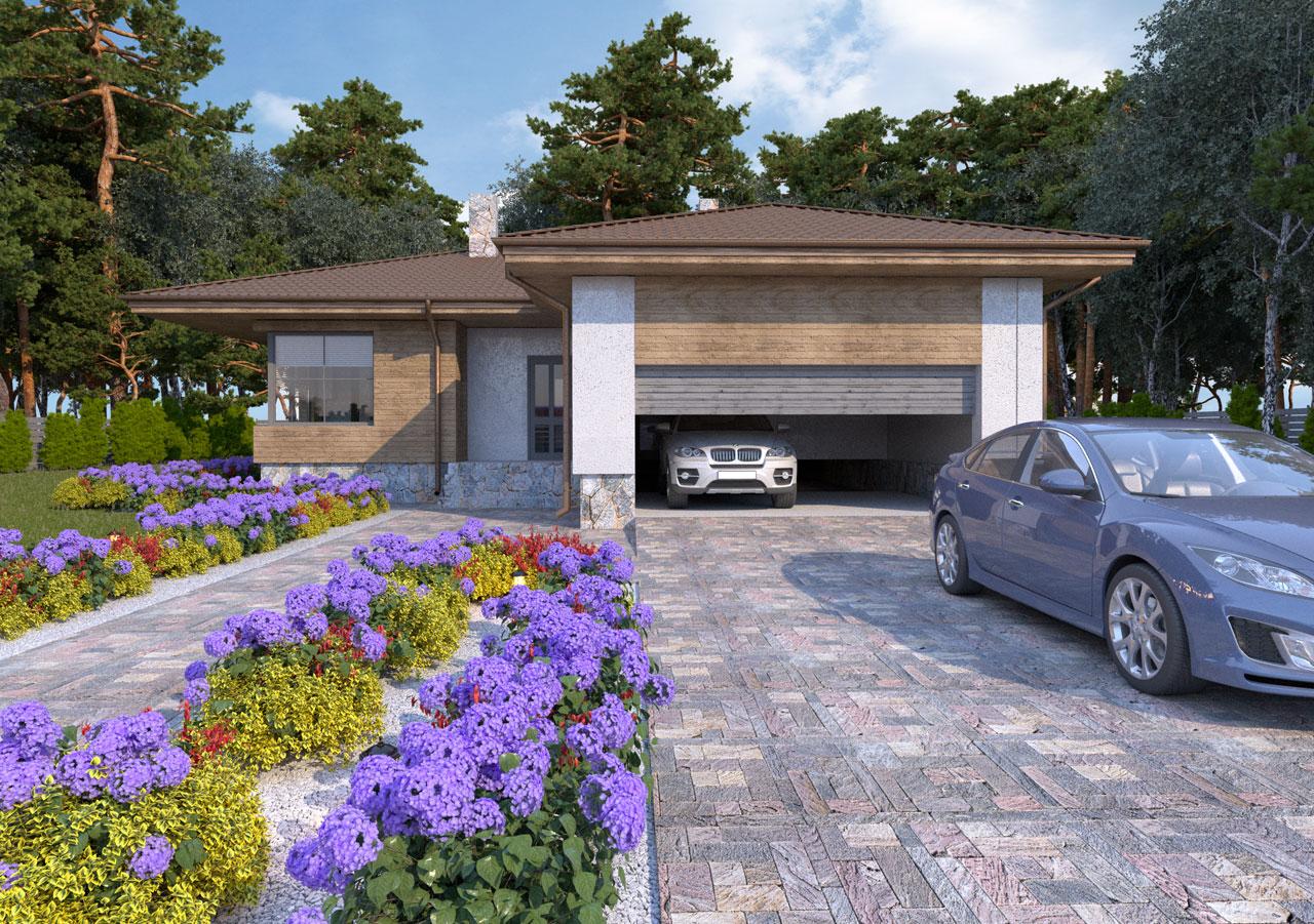Проект и визуализация частного дома