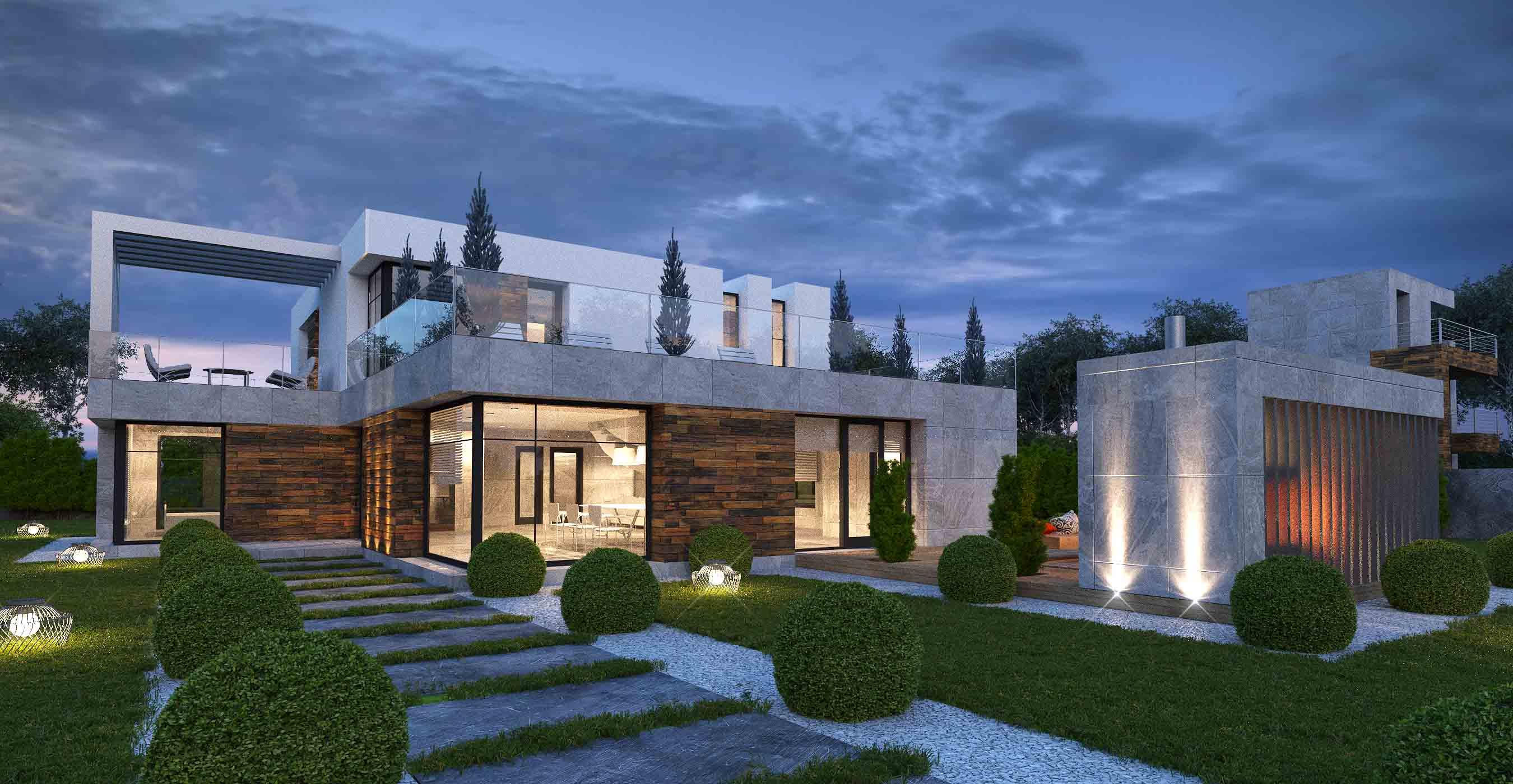 Проект и визуализация частного дома г. Москва