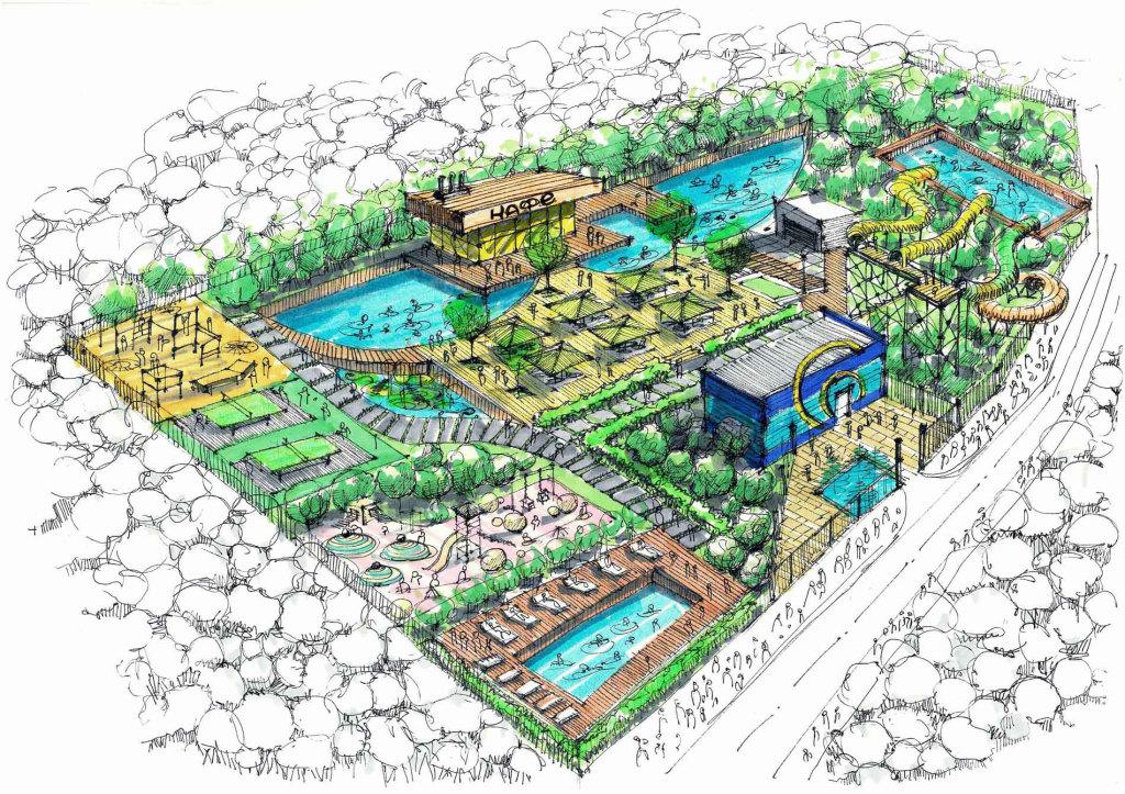 Ручная визуализация аквапарка г. Краснодар