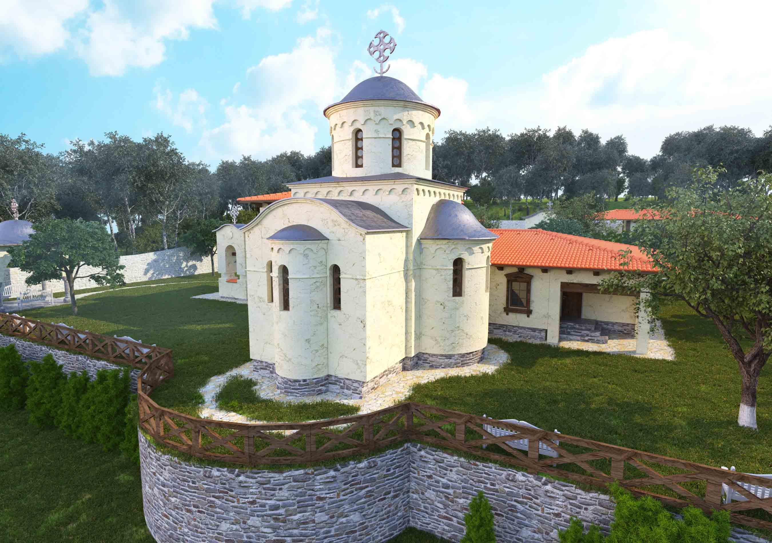 Проект и визуализация храмового комплекса Киевская область
