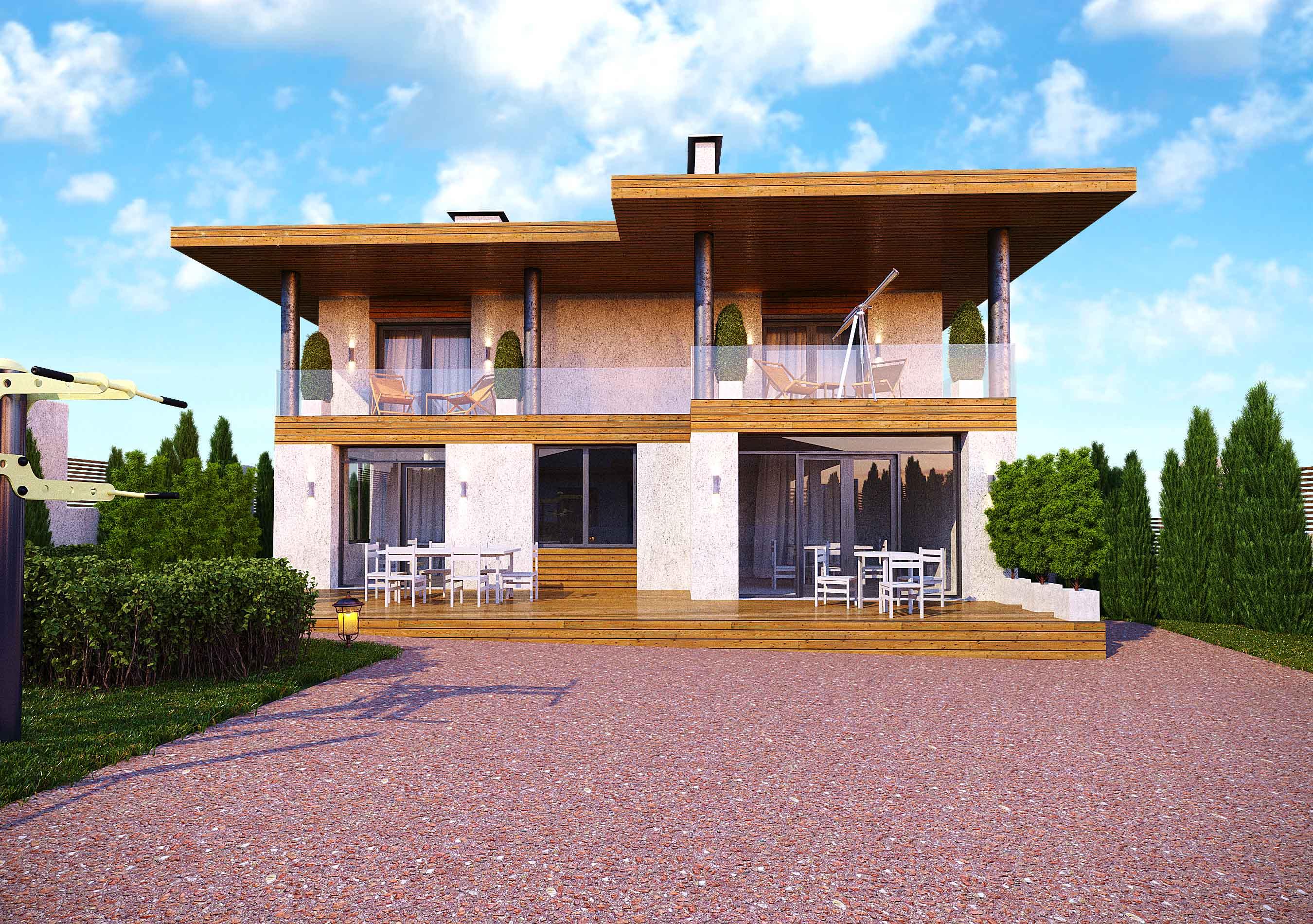 Проект и визуализация частного дома г. Ровно