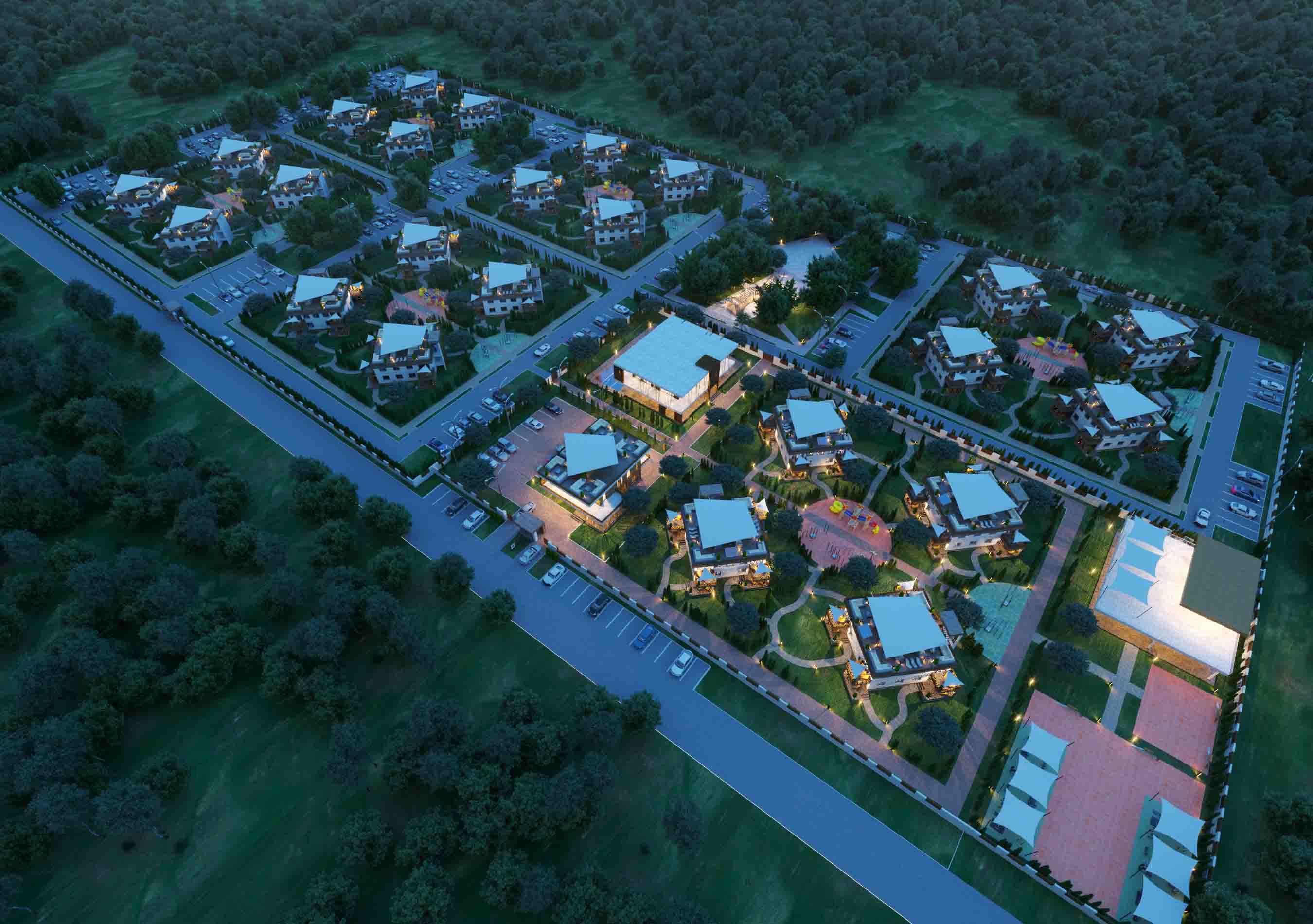 Проект и визуализация  апартотеля с жк в Севастополе