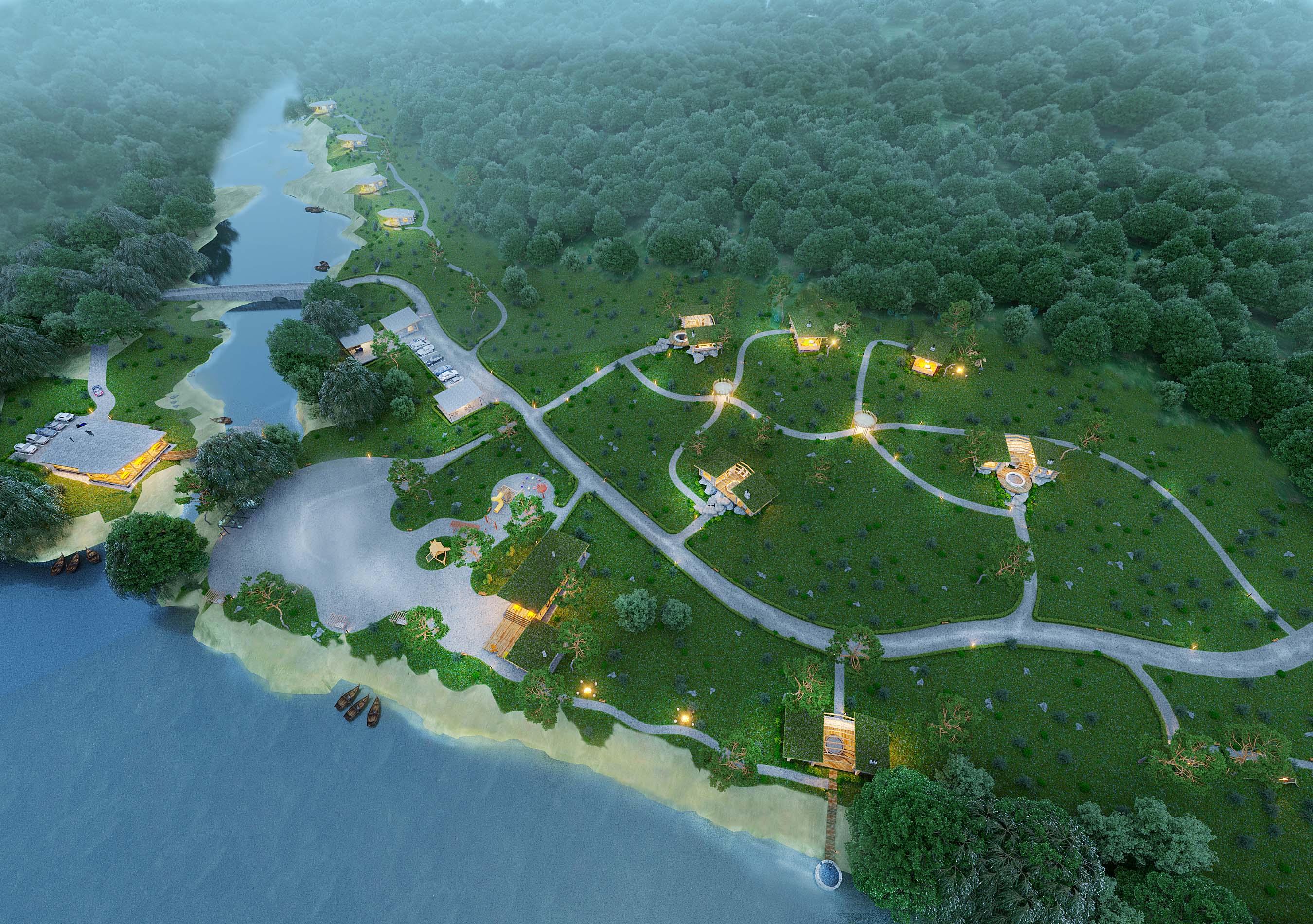 Проект и визуализация турбазы Ровенская область