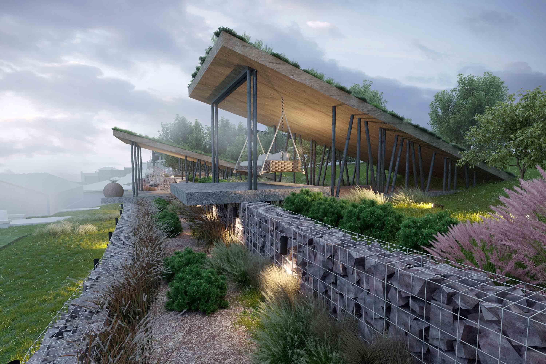 Архитектурно-ландшафтная концепция  частного участка