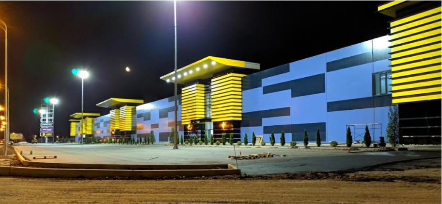 Дизайн фасада ТЦ в Грозном