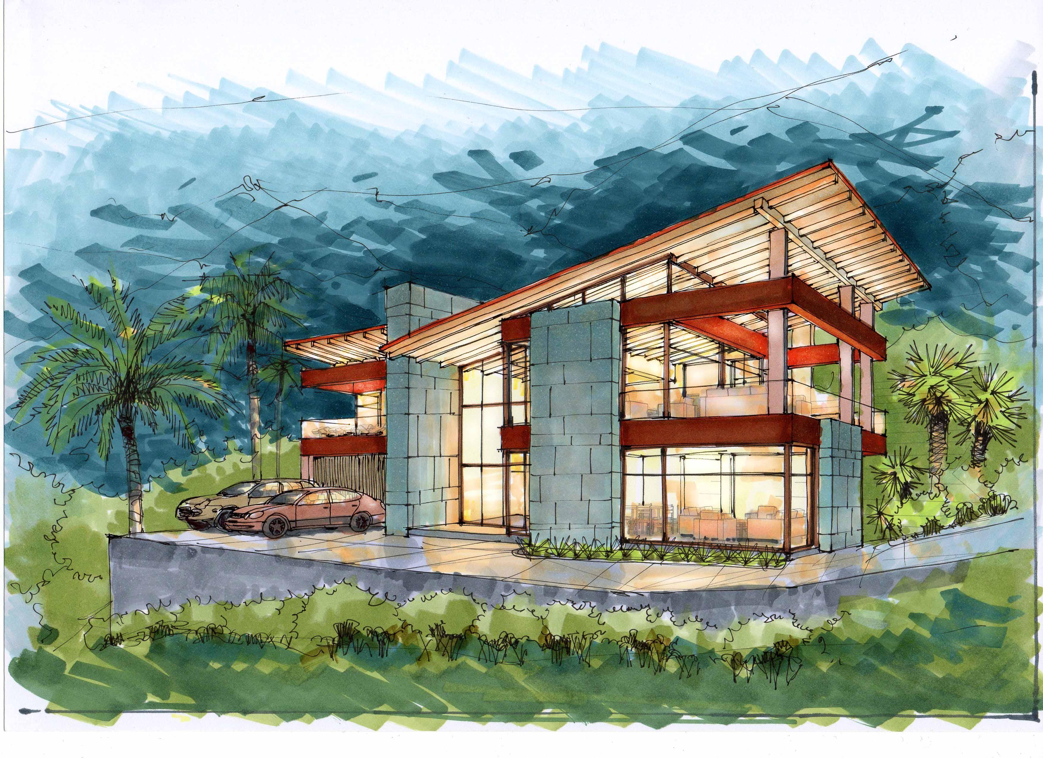 Концепция 2 современных домов в Новой Зеландии