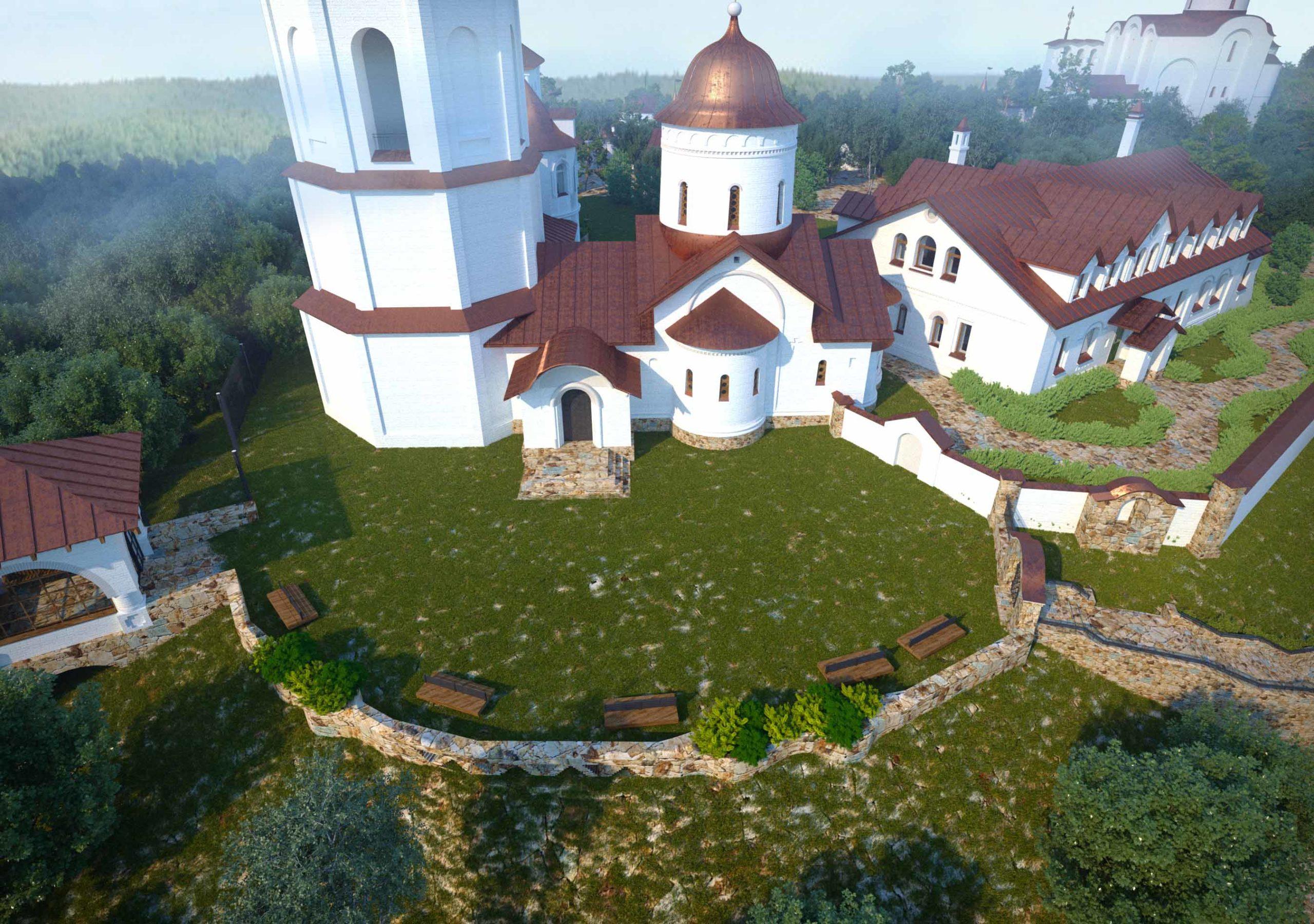 Комплексный проект благоустройства Ахтырского монастыря
