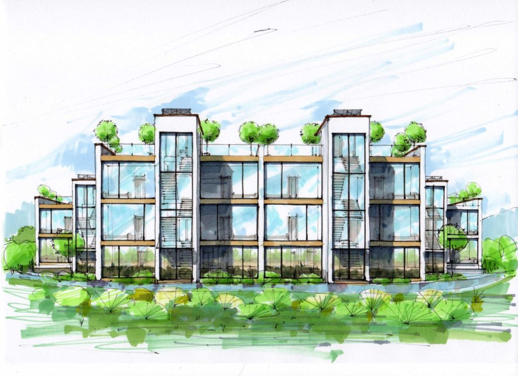 Проект жилого комплекса  на Днепре под Киевом